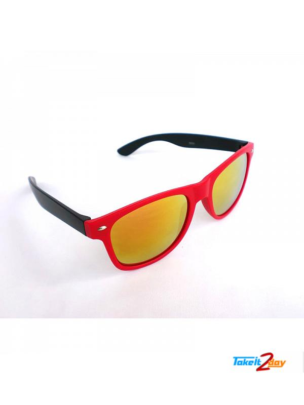 Wayfarers Sunglasses Eyeon Red And Black For Men And Women (EWR001)