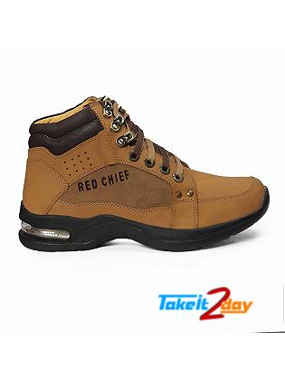 Red Chief Mens Casual Ankle Shoes Rust Colour RC1981