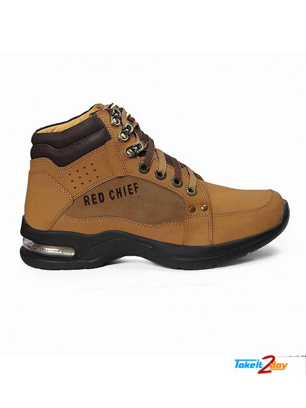 Red Chief Mens Casual Ankle Shoes Rust Colour RC1981 (RC1981022)