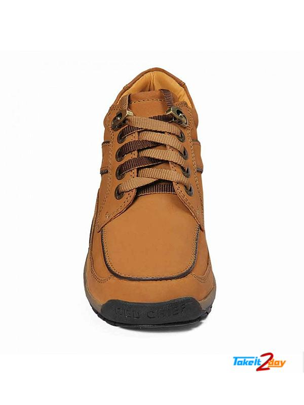 Red Chief Ankle Casual Shoes Mens Rust