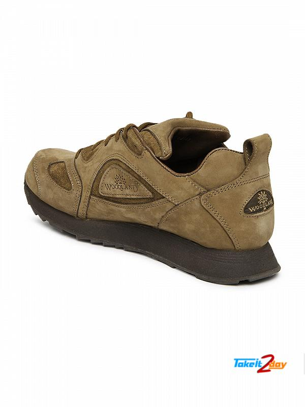 Woodland Brown Leather Casual Shoes