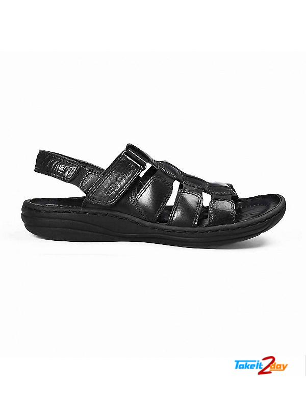 b8540c0c0c61b Red Chief Mens Casual Sandals Floaters Black (RC1081001)