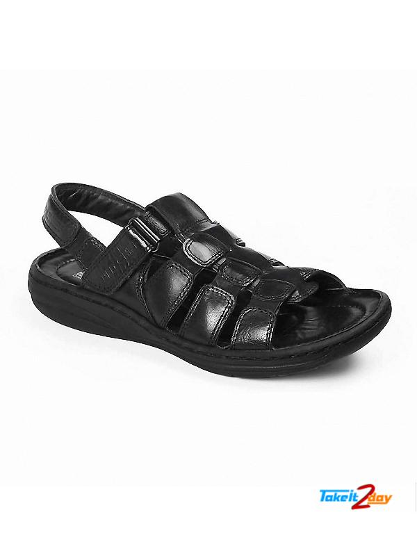 Red Chief Mens Casual Sandals Floaters Black Rc1081001