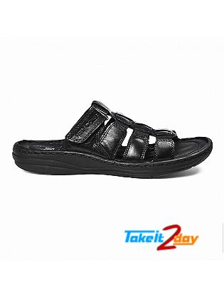 Red Chief Mens Casual Sandals/Floaters Black