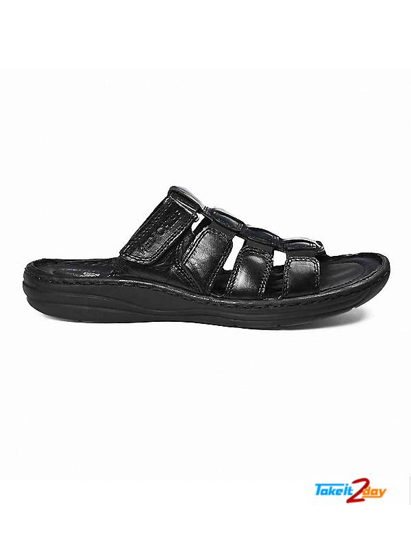 90705d8eb6ab Red Chief Mens Casual Sandals Floaters Black (RC1082001)
