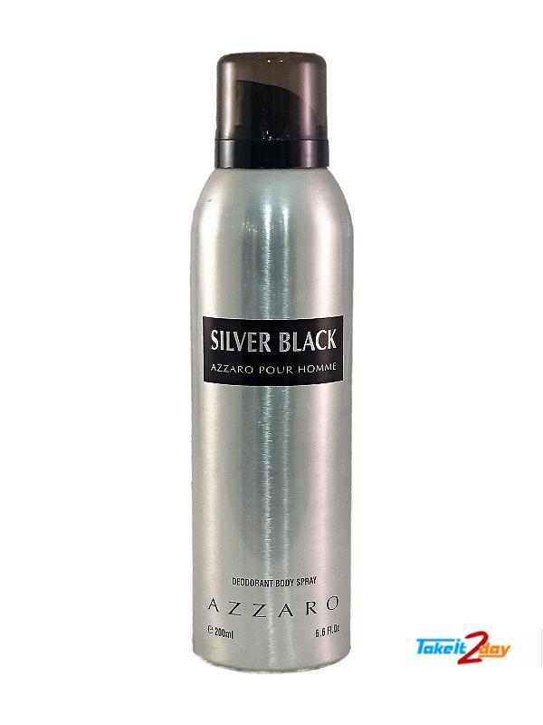 Azzaro Silver Black Deodorant Body Spray For Men And women 200 ML (AZSL01) dadd56e53a1