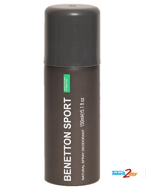 United Colors Of Benetton Benetton Sport Black Deodorant ...
