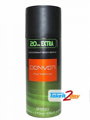 Denver Spring Deodorant Body Spray For Men 170 ML