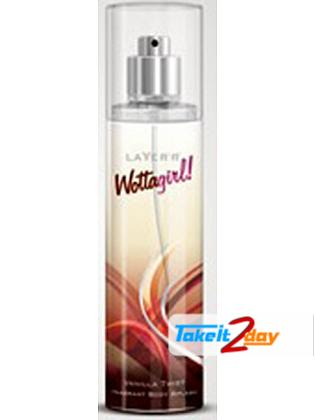 Layer'r Wottagirl Body Spray Vanilla Deodorant For Women 135 ML