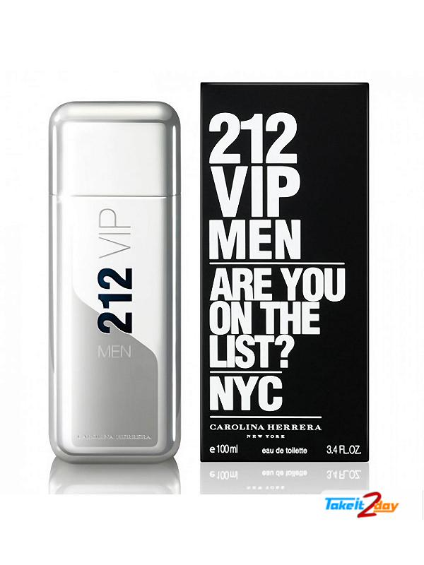 212 VIP Men By Carolina Herrera Perfume For Men 100 ML (CAHE2101)