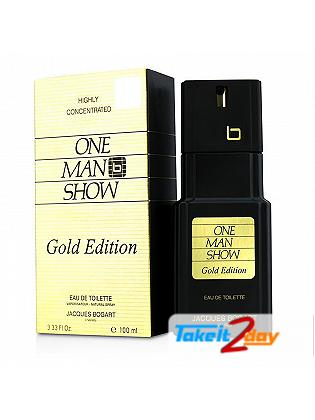 Jacques Bogart One Man Show Gold Edition Perfume For Men 100 ML EDT