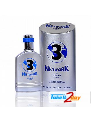 Lomani Network 3 Perfume For Men 100 ML EDT