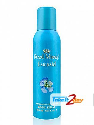 Royal Mirage Emerald Deodorant Body Spray For Men 200 ML