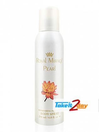 Royal Mirage Pearl Deodorant Body Spray For Men 200 ML