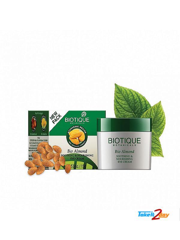Biotique  Bio Almond SOOTHING & NOURISHING EYE CREAM (B35)