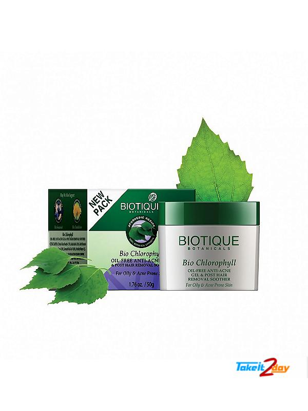 Biotique  Bio Chlorophyll OIL-FREE ANTI-ACNE GEL & POST HAIR REMOVAL SOOTHER (B16)