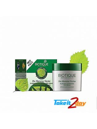 Biotique  Bio Morning Nectar FLAWLESS LIGHTENING EYE CREAM SPF 30 UVA/UVB SUNSCREEN