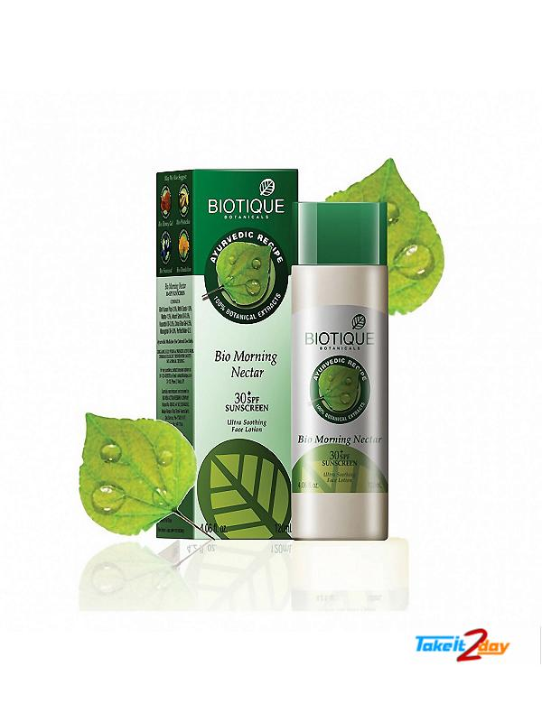 Biotique  Bio Morning Nectar 30+ SPF SUNSCREEN (B12)