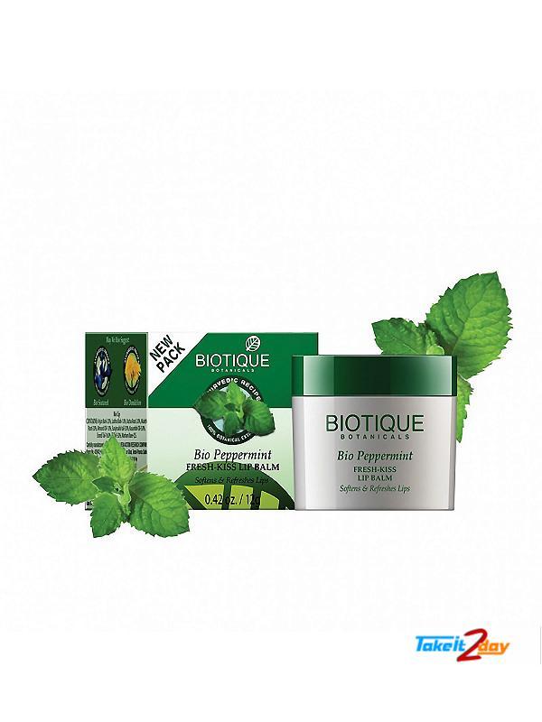 Biotique  Bio Peppermint FRESH-KISS LIP BALM (B42)