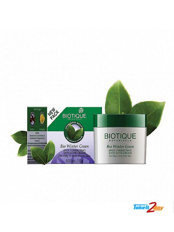 Biotique  Bio Winter Green SPOT CORRECTING ANTI-ACNE CREAM (B32)