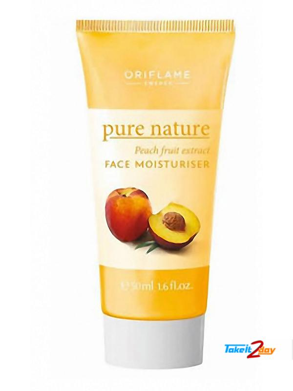 Oriflame Pure Natural Peach Fruit Extract Face Moisturiser  Ml