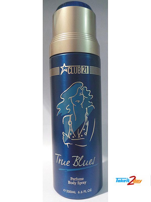 Club21 True Blues Deodorant Body Spray For Men 200 ML (CLTR01)