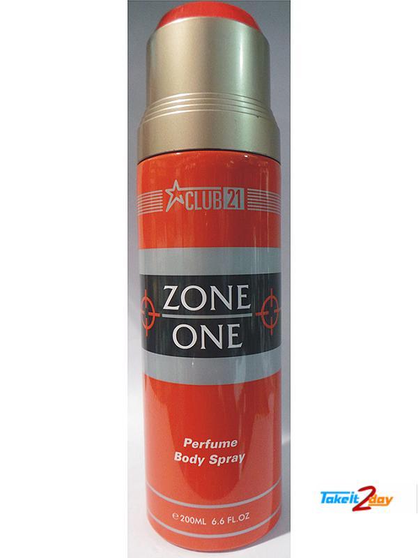 Club21 Zone One Deodorant Body Spray For Men 200 ML (CLZO01)