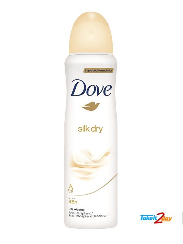 Dove Silk Dry Deodorant Body Spray For Women 169 Ml Dosi01