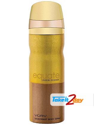 Vurv Equate Pour Femme Deodorant Body Spray For Women 200 ML By Lattafa Perfumes