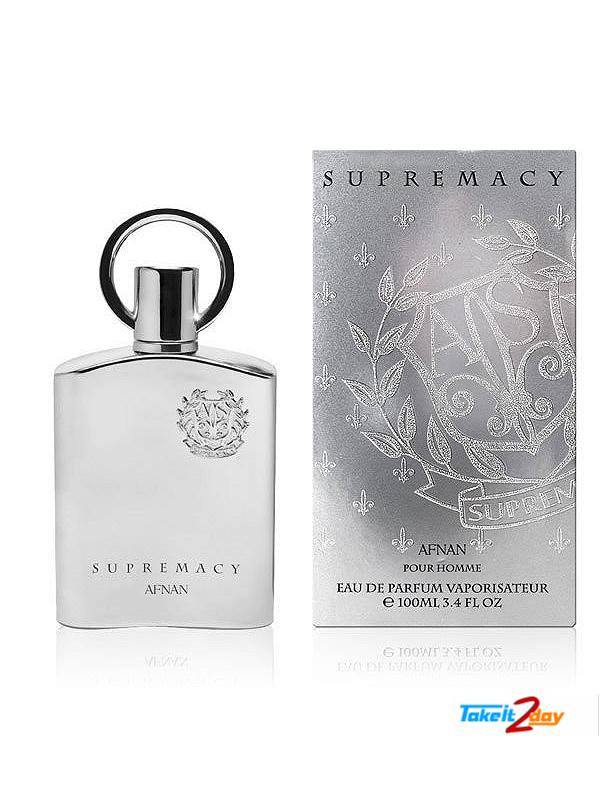 Afnan Supremacy Silver Perfume For Men 100 ML EDP (AFSUSI01)