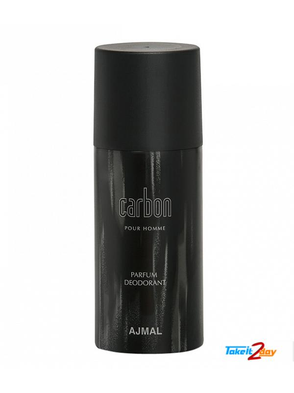 ajmal carbon pour homme parfum deodorant for men 150 ml