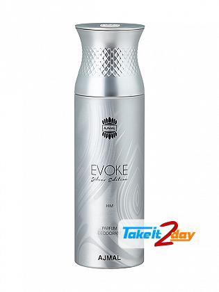 Ajmal Evoke Silver Edition Deodorant Body Spray For Men 200 ML