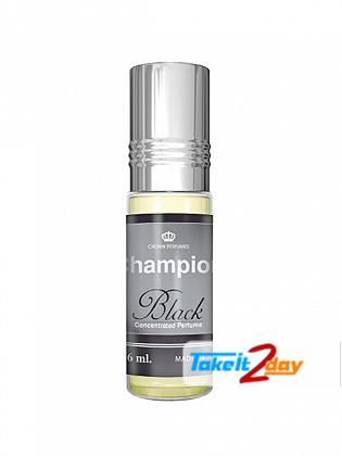 Al Rehab Champion Black Perfume For Men And Women 6 ML CPO Pack OF Six