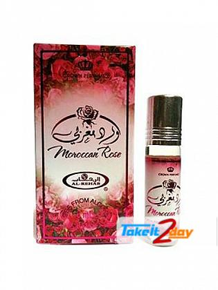 Al Rehab Morocco Rose Perfume For Men And Women 6 ML CPO Pack OF Six