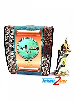 Anfar Mukhallat Al Oudh Akhsar Green Perfume For Men And Women 12 ML EDP