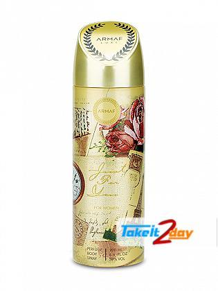 Armaf Just For You Women Deodorant Body Spray For Women 200 ML