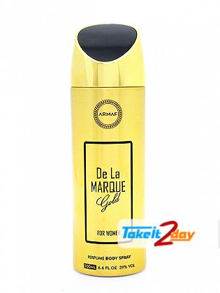 Armaf De La Marque Gold Deodorant Body Spray For Women 200 ML