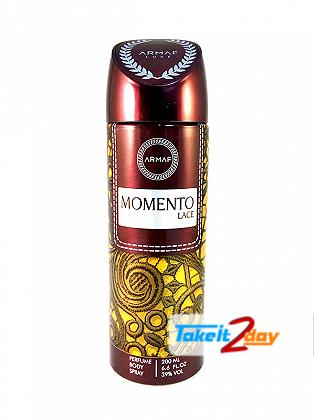 Armaf Momento Lace Deodorant Body Spray For Women 200 ML