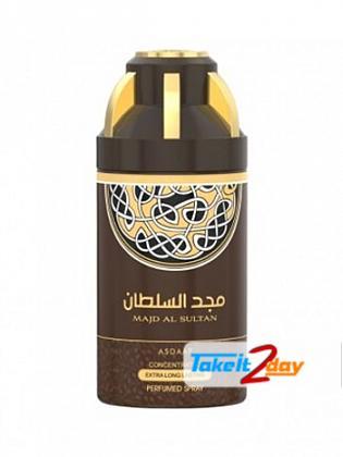 Asdaaf Majd Al Sultan Deodorant Body Spray For Man And Women 250 ML