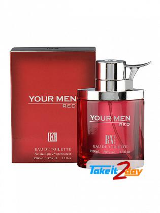 B N Parfums Your Men Red Perfume For Men 100 ML EDT