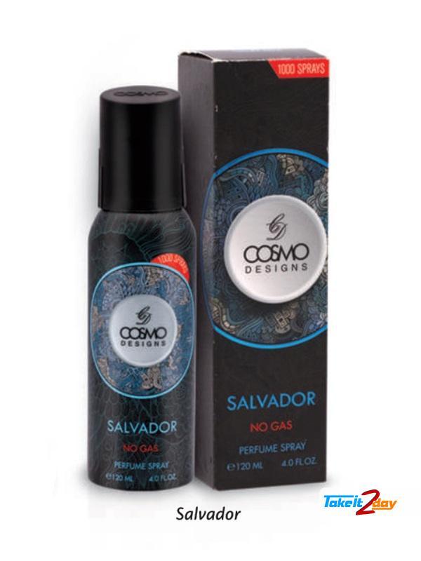 Cosmo Designs Salvador No Gas Perfume Deodorant Spray For Men