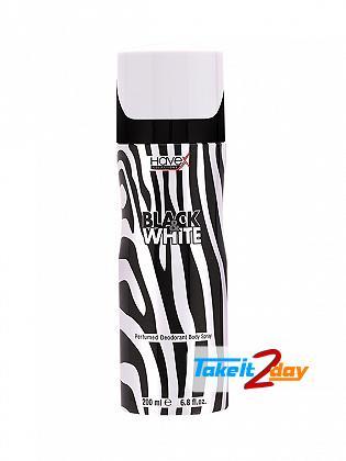 Havex Black And White Perfumed Deodorant Body Spray For Men 200 ML