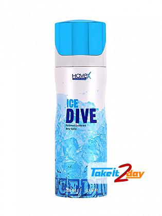 Havex Ice Dive Perfumed Deodorant Body Spray For Men 200 ML