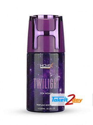 Havex Twlight Perfumed Deodorant Body Spray For Women 250 ML