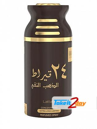 Lattafa 24 Carat Pure Gold Perfume Deodorant Body Spray For Men And Women 250 ML