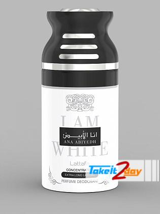 Lattafa Ana Abiyedh I Am White Perfume Deodorant Body Spray For Men And Women 250 ML