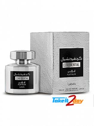Lattafa Confidential Platinum Perfume For Men And Women 100 ML EDP