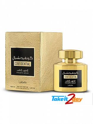 Lattafa Confidential Private Gold Perfume For Men And Women 100 ML EDP