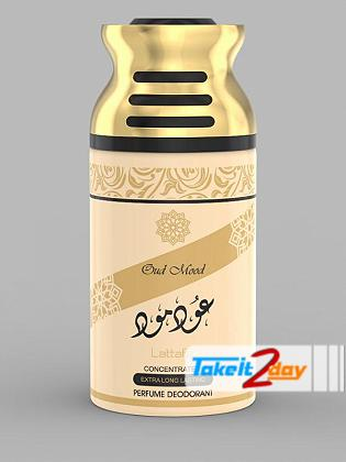 Lattafa Oud Mood Perfume Deodorant Body Spray For Men And Women 250 ML
