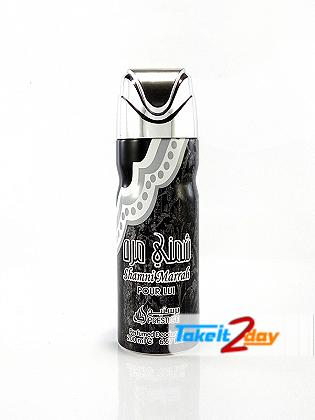 Lattafa Shamni Marrah Deodorant Body Spray Prestige Collection For Men 200 ML